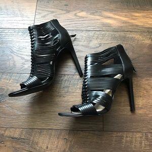 BCBGeneration Black Sandal Stilettos